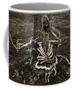 Halloween Green Skeleton Black And White Coffee Mug