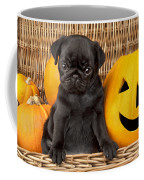 Halloween Pug Coffee Mug by Greg Cuddiford