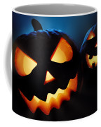 Halloween Pumpkins Closeup -  Jack O'lantern Coffee Mug by Johan Swanepoel