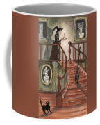 Halloween Witch Coffee Mug by Margaryta Yermolayeva