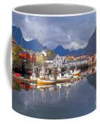 Hamnoy Fishing Village On Lofoten Islands Coffee Mug