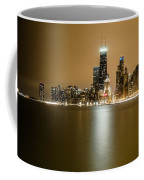 Hancock Building Reflection From North Ave Beach Coffee Mug