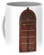 Hand Carved Door Coffee Mug