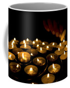 Hand Lighting Candles Coffee Mug