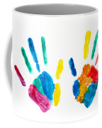 Hands Painted Stamped On Paper Coffee Mug