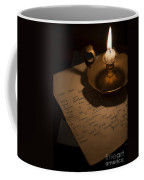 Handwritten Letter By Candle Light Coffee Mug
