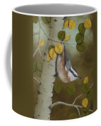 Hanging Around-red Breasted Nuthatch Coffee Mug