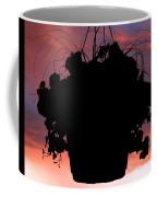 Hanging Basket Silhouette Coffee Mug
