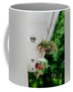 Hanging Flower Baskets On A Porch  Coffee Mug