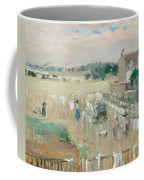 Hanging The Laundry Out To Dry Coffee Mug by Berthe Morisot