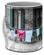 Hanging The Wash In Venice Italy Coffee Mug