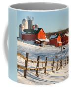 Happy Acres Farm Square Coffee Mug by Bill Wakeley