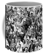 Happy Baseball Fans In The Bleachers At Yankee Stadium. Coffee Mug by Underwood Archives