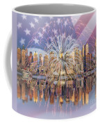 Happy Birthday America Coffee Mug by Susan Candelario