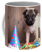 Happy Birthday Cute Pug Puppy Coffee Mug by Edward Fielding