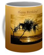Happy Birthday Golden Sunrise Coffee Mug