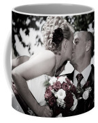 Happy Bride And Groom Kissing Coffee Mug