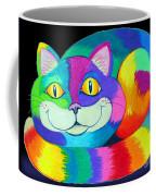 Happy Cat Dark Back Ground Coffee Mug