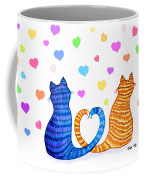Happy Cats And Hearts Coffee Mug