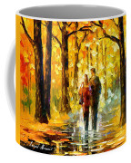 Happy Couple - Palette Knife Oil Painting On Canvas By Leonid Afremov Coffee Mug