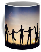 Happy Group Of People Friends Family Together Coffee Mug