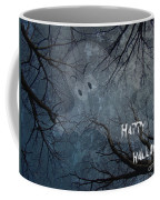 Happy Halloween - Ghost In Trees Coffee Mug