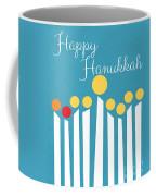 Happy Hanukkah Menorah Card Coffee Mug