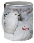 Happy Holidays - Winter Ptarmigan Coffee Mug