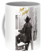 Happy Holidays Cowboy Coffee Mug by Olivier Le Queinec