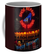Happy Holidays - Neon Of New York - Shoe Repair - Holiday And Christmas Card Coffee Mug