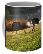 Happy Sandhill Crane Family - Original Coffee Mug