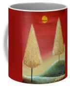 Happy Trees With Red Sky Coffee Mug