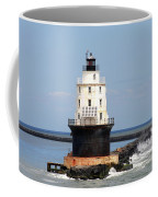 Harbor Of Refuge Light  And Breakwater Coffee Mug