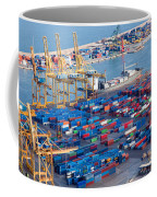 Harbor With Lots Of Cargo Coffee Mug
