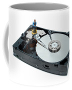 Hard Drive Backup Coffee Mug by Olivier Le Queinec