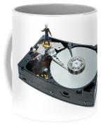 Hard Drive Firewall Coffee Mug by Olivier Le Queinec