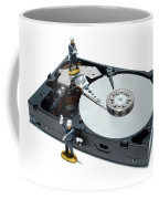 Hard Drive Security Coffee Mug by Olivier Le Queinec