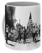 Hard Hat Pro-viet Nam War March Saluting Cops Tucson Arizona 1970 Black And White Coffee Mug