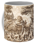 Hare Hunting, Engraved By Wenceslaus Coffee Mug
