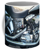 Harley Black And Silver Sideview Coffee Mug