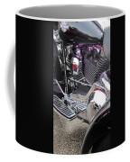 Harley Close-up Purple Lights Coffee Mug
