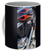 Harley Close-up Red Flame 1 Coffee Mug