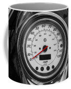Harley Davidson Motorcycle Speedometer Harley Bike Bw  Coffee Mug