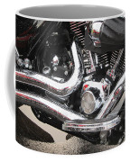 Harley Engine Close-up Rain 2 Coffee Mug