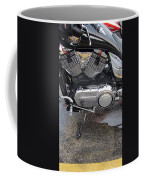 Harley Engine Close-up Yellow Line Coffee Mug