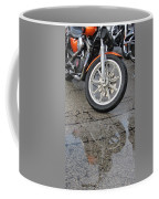 Harley Reflection In Rain  Coffee Mug