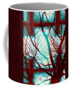 Harmonious Colors - Red White Turquoise Coffee Mug