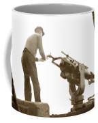 harpoon gun Moss Landing whaling Monterey Bay circa 1920 Coffee Mug
