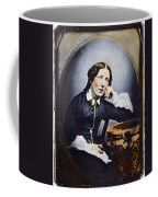 Harriet Beecher Stowe (1811-1896). American Abolitionist And Writer. Oil Over A Daguerrotype, C1852 Coffee Mug