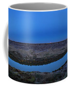 Harvest Moon Rising Over The Red Deer Coffee Mug